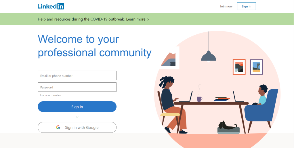 Professional networking platform, LinkedIn